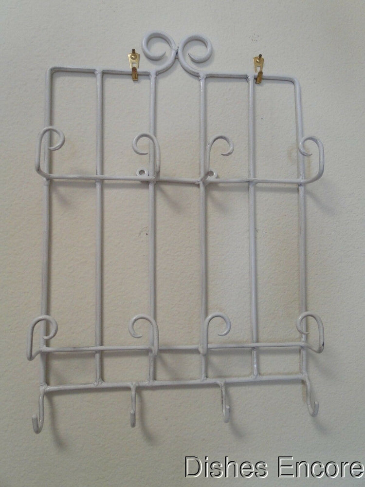 "Bard's Stacked Antique White Display Rack for 4 Cup & Saucer Sets 11 1/4"" x 16"""