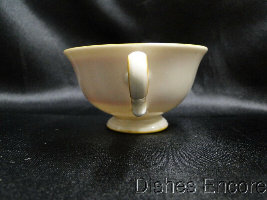 Rosenthal Ivory w/ Orange / Red Band, Chippendale: Demitasse Cup & Saucer Set