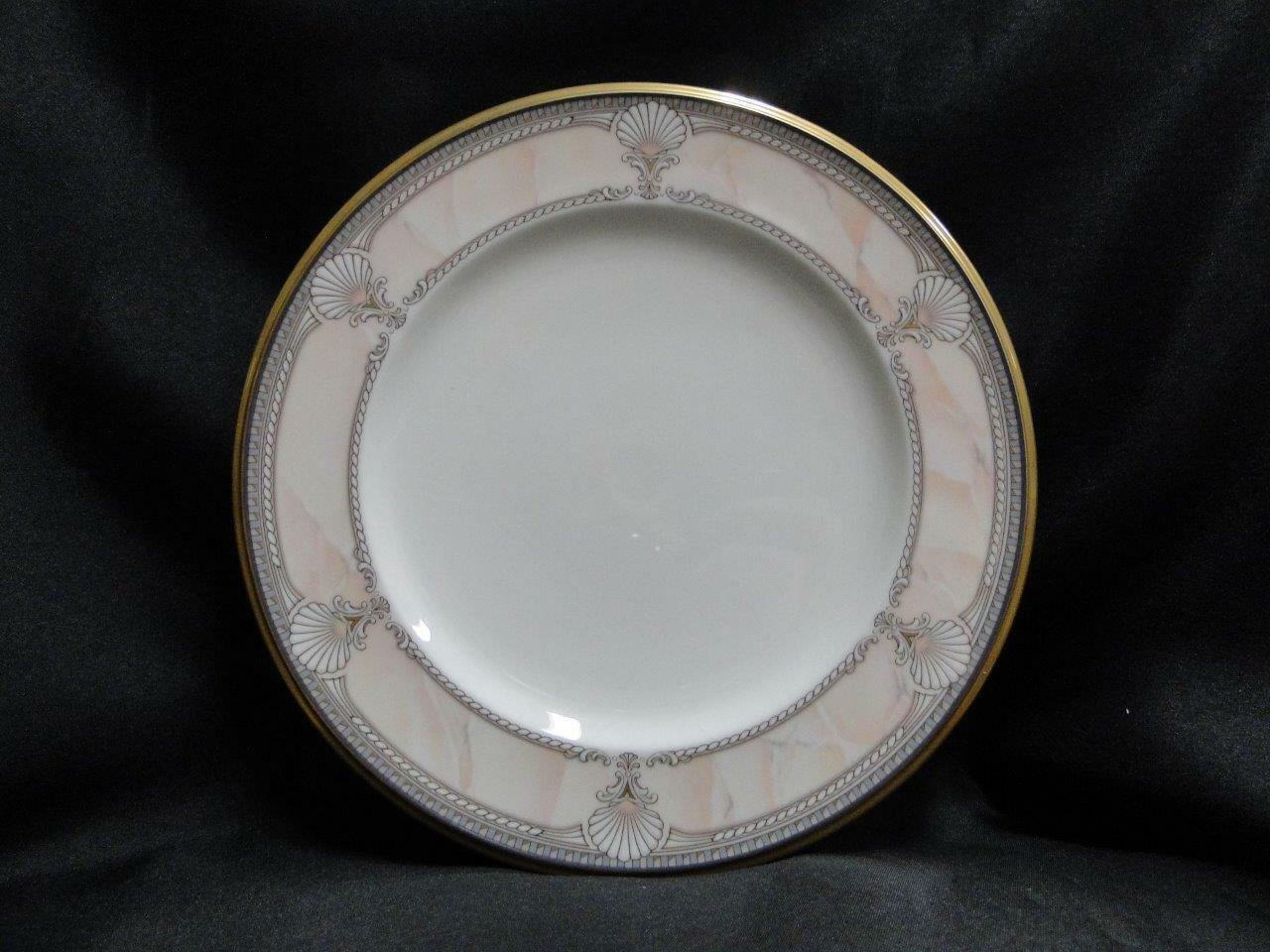 Noritake Pacific Majesty, 9771, White Shells, Pink Rim: Salad Plate (s), 8 3/8""