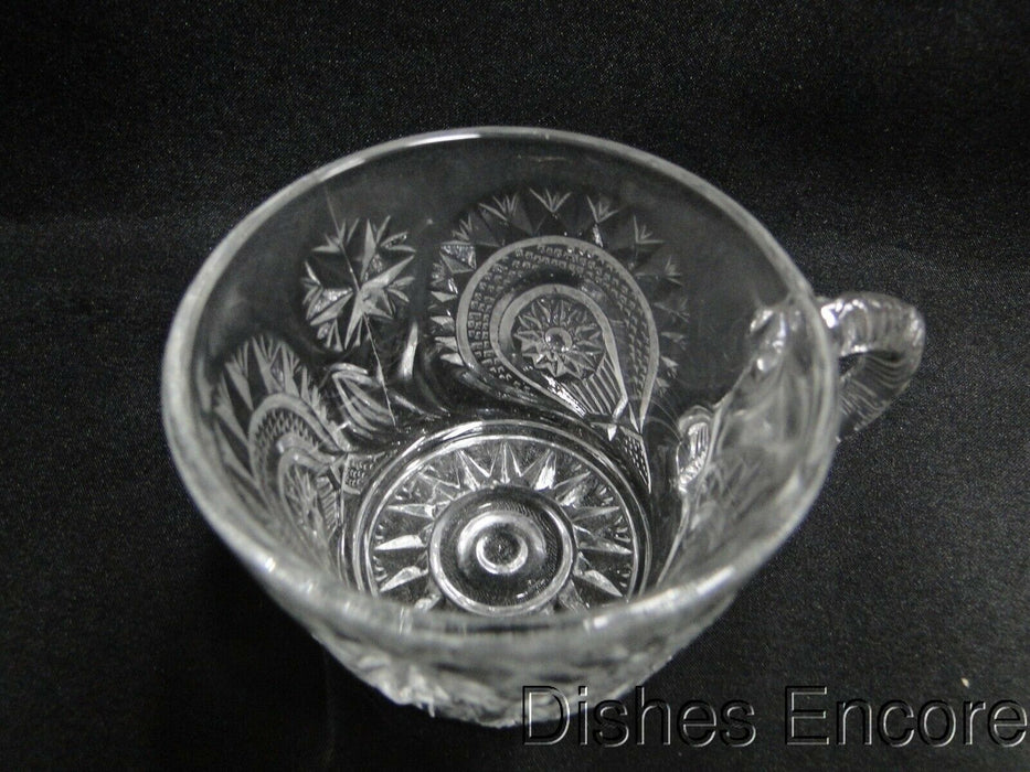 "Smith Glass Pinwheel & Stars, Star Base, Pressed Glass: Punch Cup, 2 3/8"" Tall"