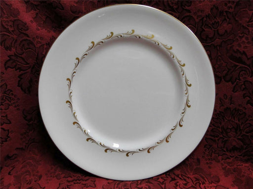 Royal Doulton Rondo, White w/ Gold Scrolls: Dinner Plate (s), 10.75""
