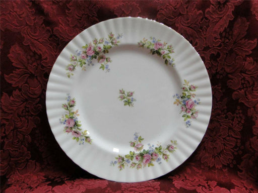 Royal Albert Moss Rose, Pink, Blue, Flowers: Dinner Plate (s), 10 1/2""