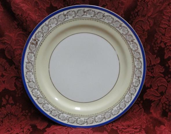 Shimokata Thin Blue Band, Gold Scrolls, Smooth: Dinner Plate (s), 10""