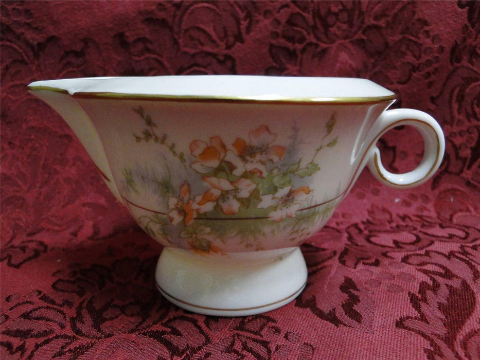 Haviland (New York) Apple Blossom: Cream Pitcher, Flowers Pale Orange