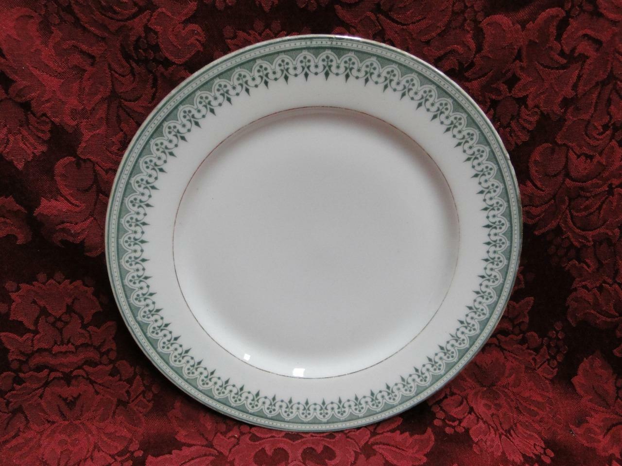Tressemanes & Vogt TRV3, Green Geometric Rim, Gold: Luncheon Plate (s), 8 5/8""