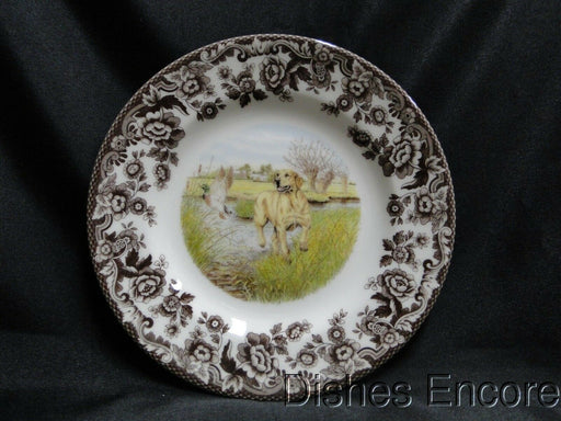 "Spode Woodland Yellow Labrador Hunting Dog: NEW Salad Plate (s), 7 3/4"", Box"