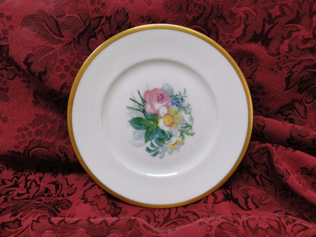 Lamberton Spring Garden, Cream, Multi Floral and Gold: Bread Plate (s) 6 3/8""