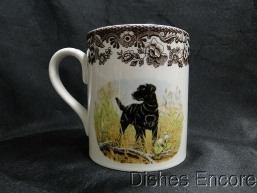 "Spode Woodland Black Labrador Hunting Dog: NEW Mug (s), 4 1/4"" Tall, 16 oz"