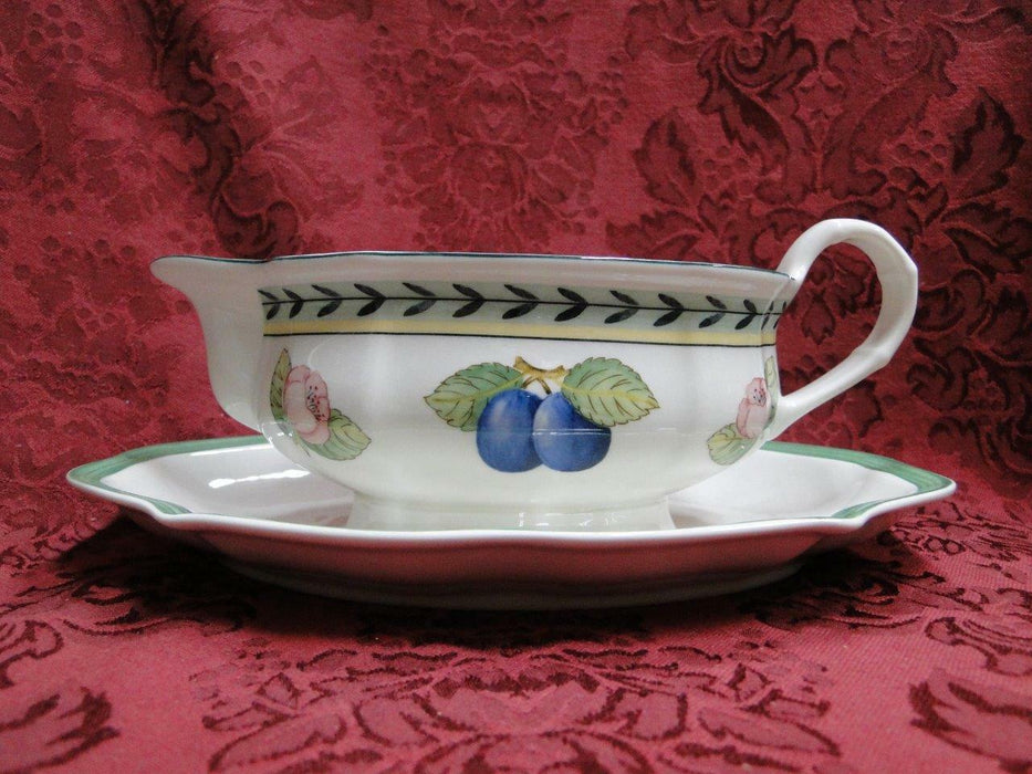 Villeroy & Boch French Garden Fleurence, Fruit: Gravy Boat w/ Underplate