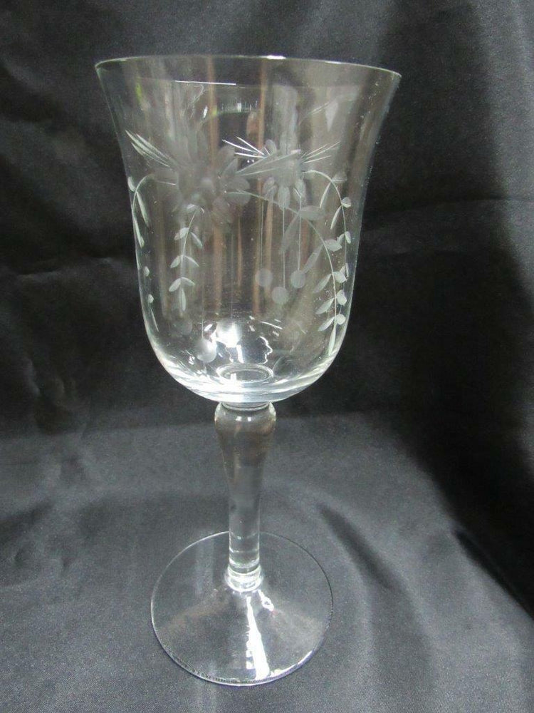 Colony COL2 Gray Cut Floral: Water Goblet 7 5/8""