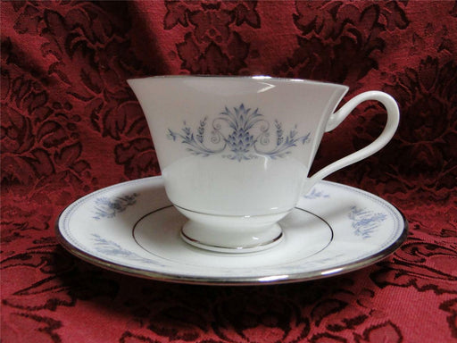 Oxford (Lenox) Bryn Mawr, Blue Scrolls & Leaves: Cup & Saucer Set (s)