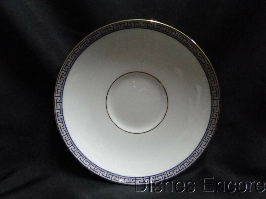 "Wedgwood Palatia, White w/ Blue & Gold Greek Key: 5 3/4"" Saucer Only, No Cup"