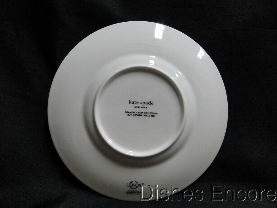 Kate Spade (Lenox) Rutherford Circle Red, Red Band: Salad Plate (s), 7 1/4""