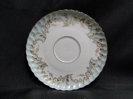 "Royal Tettau Duchess Blue Green, Gold Flowers & Trim: 6 1/8"" Saucer (s) - No Cup"