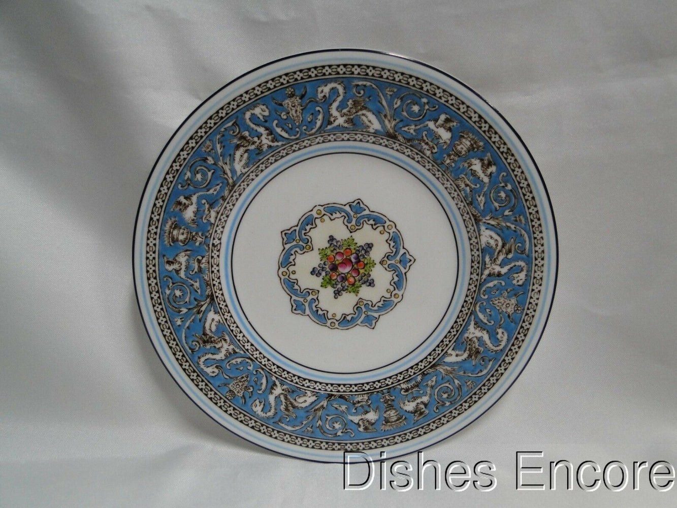 Wedgwood Florentine Turquoise, Fruit, Dragons: Dinner Plate (s), Black Gold Mark