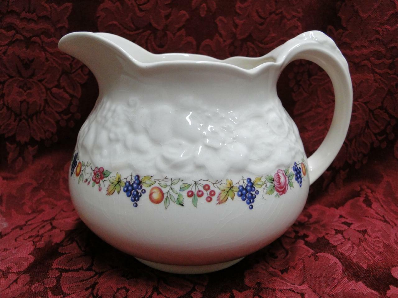 Crown Ducal Florentine Garden (Crazing): Pitcher 4.5""