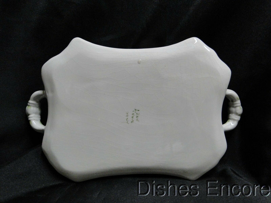 Zen, Anotonio (Nove, Italy): Florals, Green Trim: Small Handled Tray, 10""