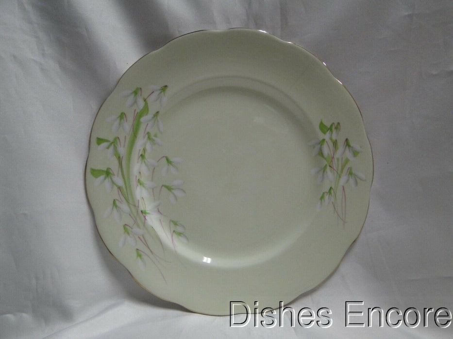 "Royal Albert Laurentian Snowdrop, Pale Green, Flowers: Dinner Plate, 10"" As Is"