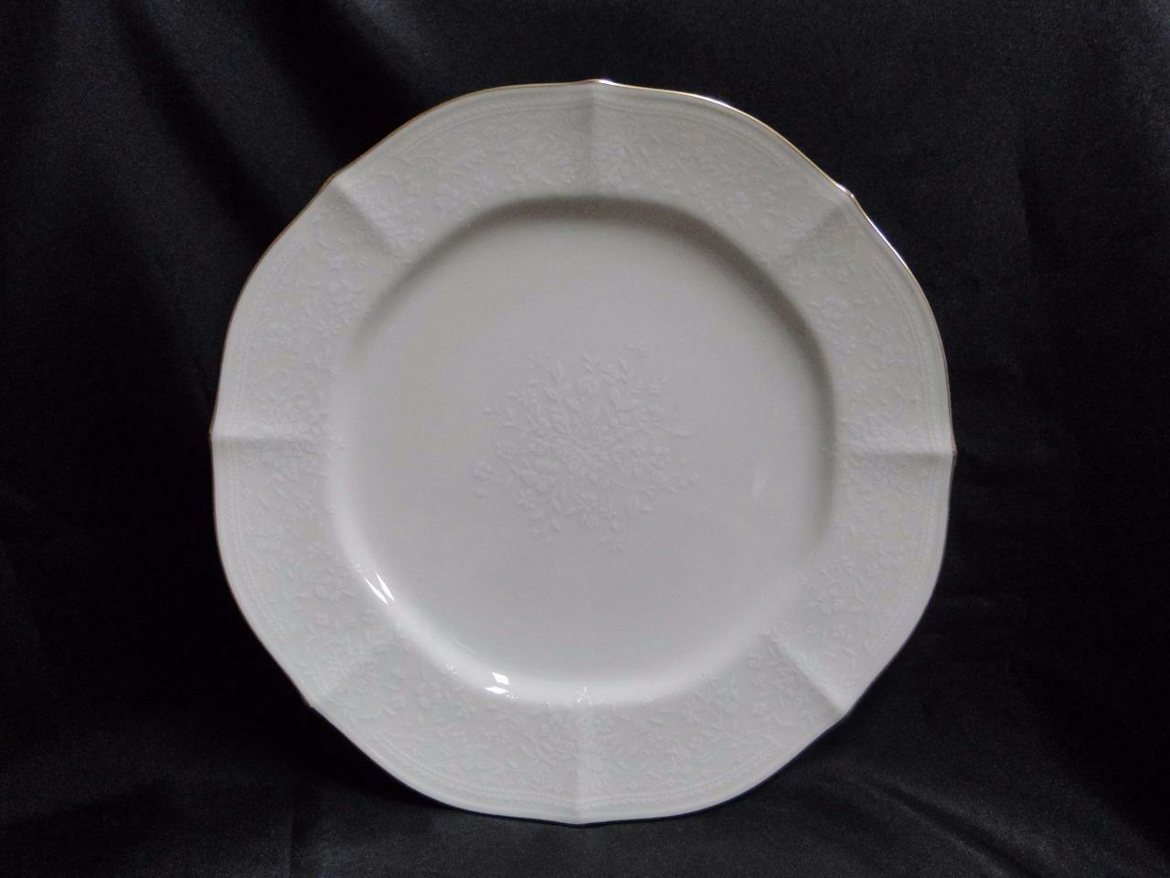 Noritake Chandon, 7306, White Floral on Ivory: Dinner Plate (s), 10 1/2""