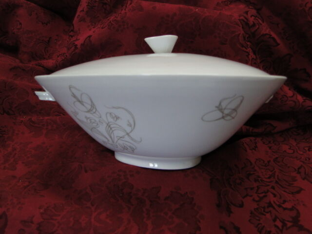 Hutschenreuther Trend Grey White COVERED SERVING BOWL, TRIANGLE