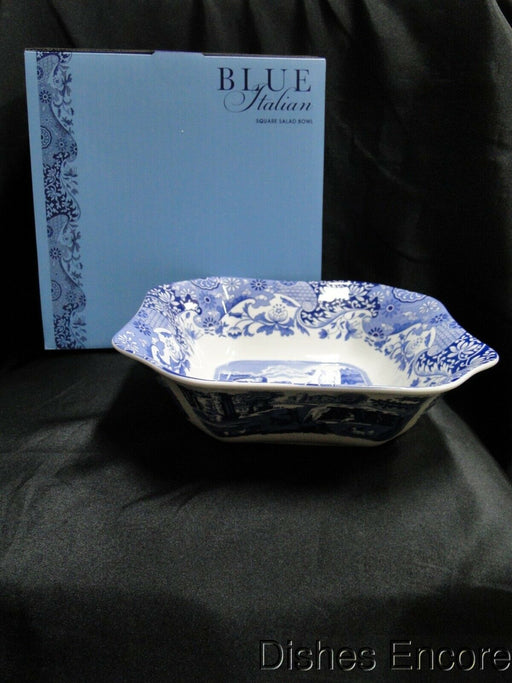 Spode Italian, Blue Scene: NEW Square Serving / Salad Bowl, Box