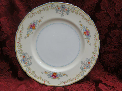 Royal Doulton The Pembroke, Aqua Trim, Floral: Dinner Plate (s), 10 3/8""