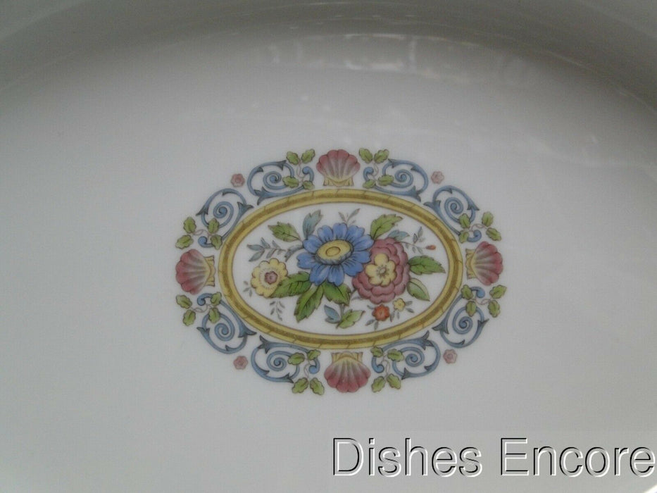 "Wedgwood Runnymede Blue, Pink Shells: Oval Serving Bowl, 10 7/8"" x 8"""