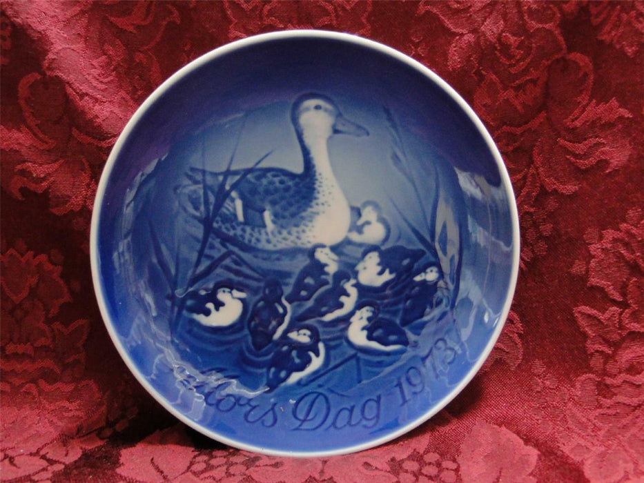 Bing & Grondahl Mother's Day Blue Mors Dag Plate 1973 Duck and Ducklings