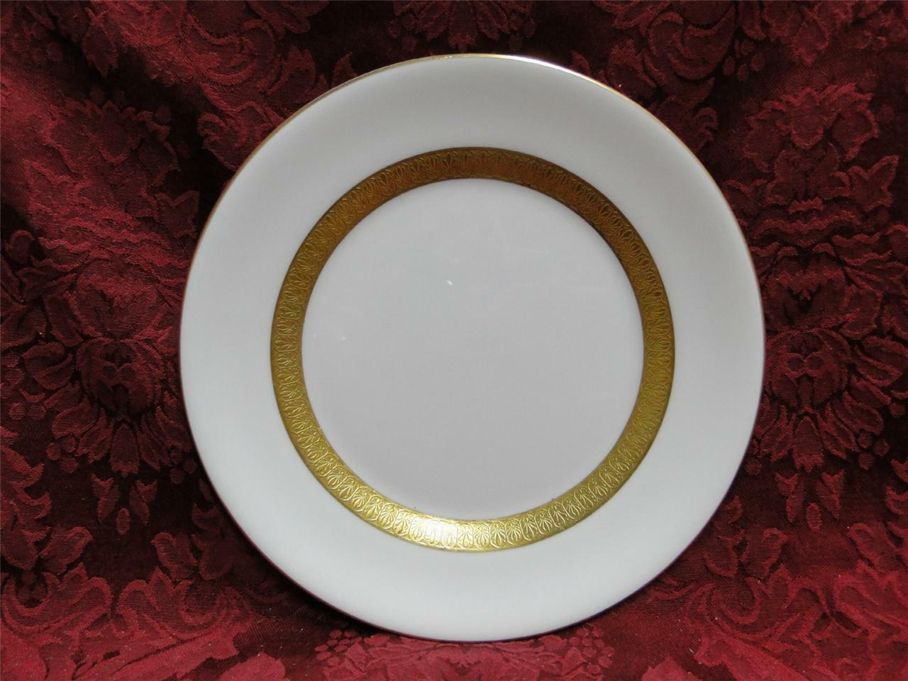 Wedgwood Adelphi, White w/ Gold Encrusted Verge: Salad Plate (s), 8""