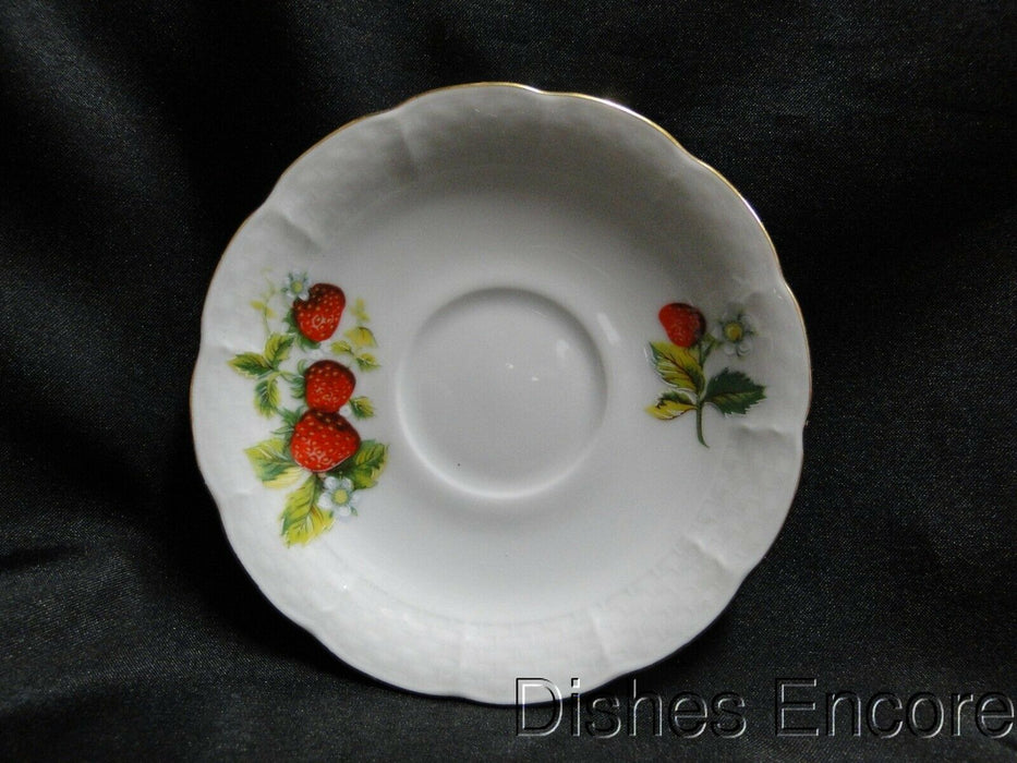 "Thun Strawberry, Gold Trim, Natalie: 4 3/8"" Demitasse Saucer Only, No Cup"