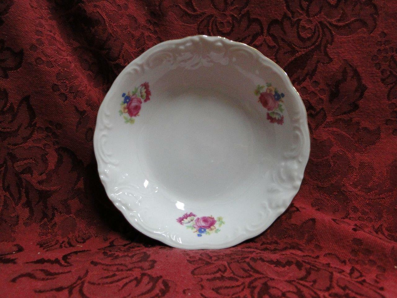 "Wawel Anastasia, Floral Sprays, Embossed Scrolls: Fruit Bowl (s), 5.25"" x 1.25"""
