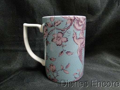 "Spode Kingsley, Florals & Bird on Teal, England: NEW Mug (s), 4 1/4"" Tall, 12 oz"