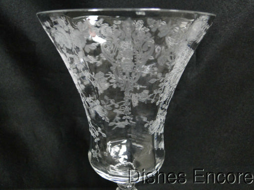 "Cambridge Rose Point Stem 3500: Water or Wine Goblet 8 3/8"" AS IS, Chip"