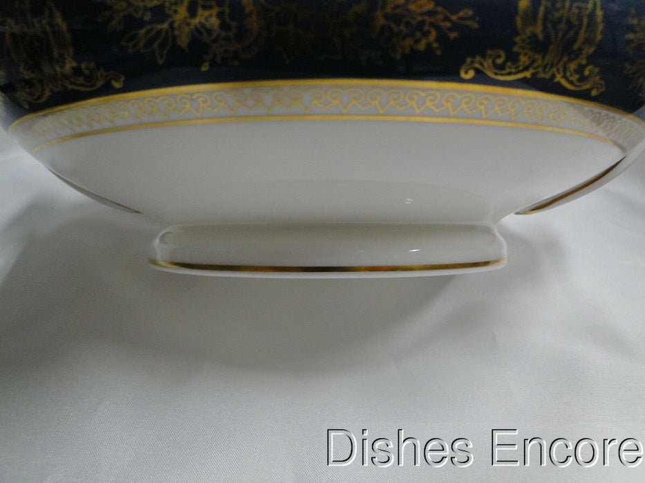 Wedgwood Columbia Blue & Gold, Dragons, Flowers: Round Serving Bowl, No Lid