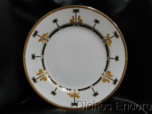 Christian Dior Casablanca, Leopards, Gold Trim: Dinner Plate (s) 10 7/8""