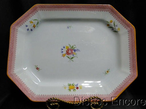 "Adams Lowestoft, Calyxware: Oval Serving Platter 13 5/8"" x 10 5/8"""