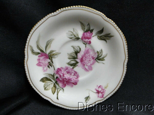 Castleton Peony, Gold Trim: Saucer Only 6 1/4""