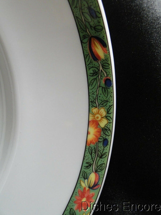 Raynaud Ceralene Louviers, Flowers, Green Band: Oval Serving Platter (s), 16""