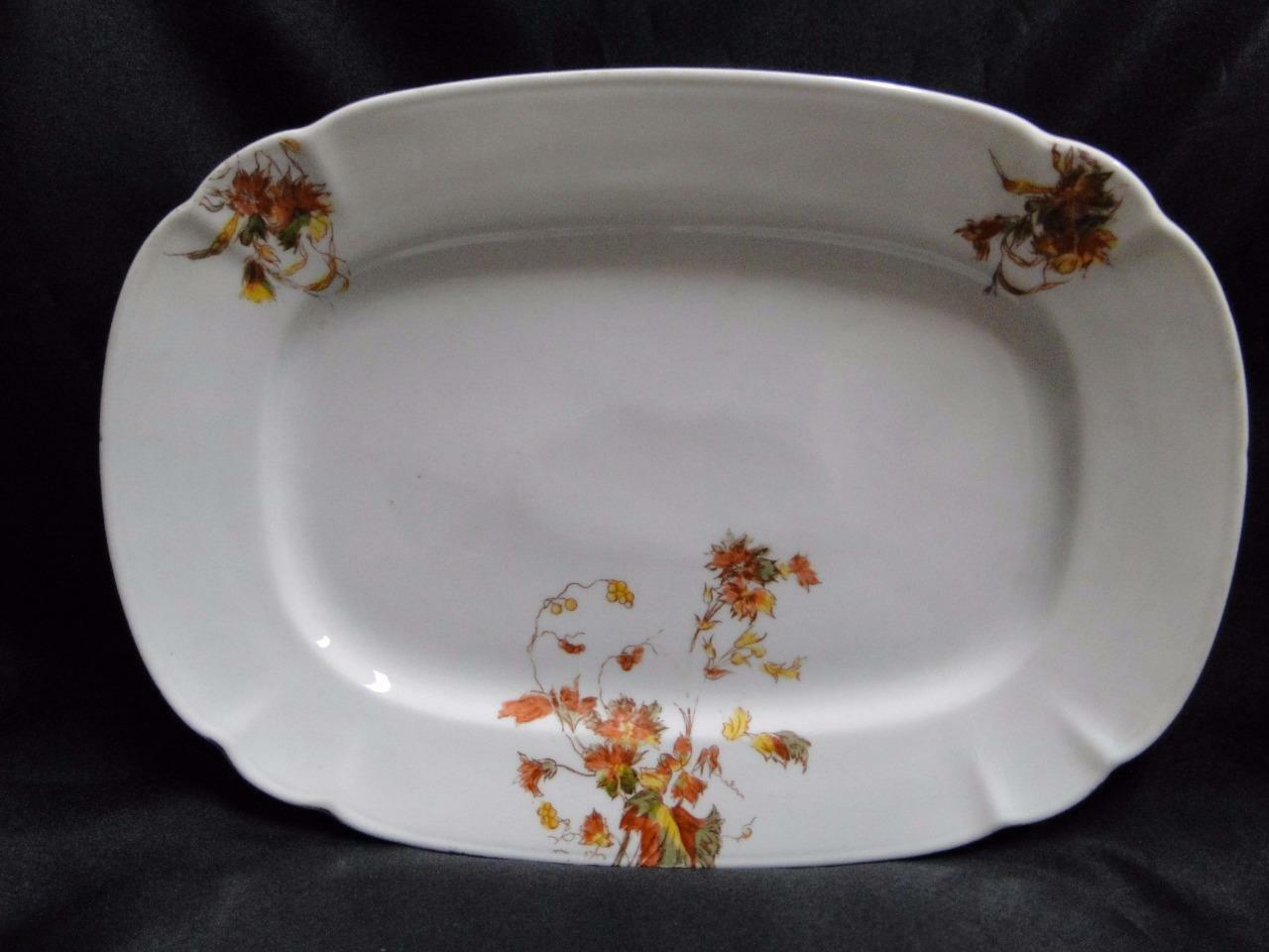 "Schwalb Brothers (BSM), Coral Flowers: Oval Serving Platter, 12 7/8"" x 9 1/8"""