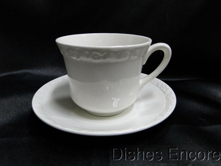 "Wedgwood Hedge Rose, Embossed Flower Band: Cup & Saucer Set (s) 2 3/4"", Crazing"