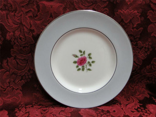Royal Doulton Chateau Rose, Rose in Center, Gray Rim: Bread Plate (s), 6 1/2""