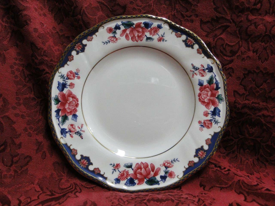 Wedgwood Pavilion, Red Floral, Blue & Gold Edge: Salad Plate (s) w/ Verge 8 1/8""