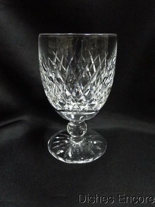 "Waterford Crystal Boyne, Criss Cross Cuts: Water Goblet (s), 5 1/8"" Tall"
