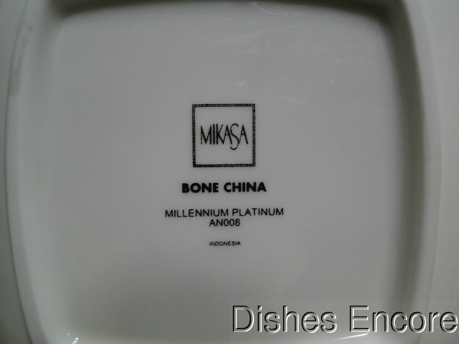 Mikasa Millennium Platinum AN008 Platinum & Gray Band on White: Soup Bowl (s)