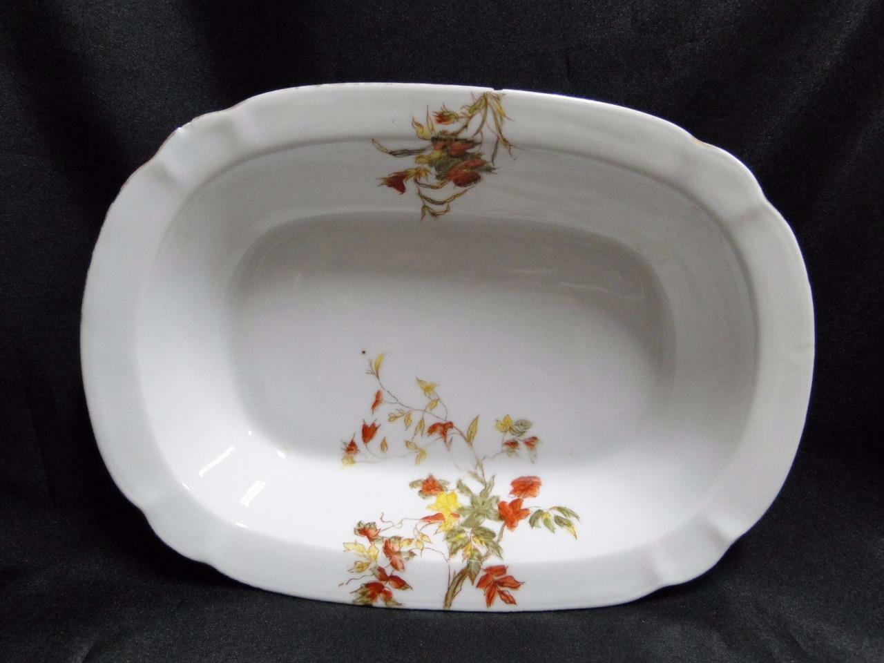"Schwalb Brothers (BSM), Coral Flowers: Oval Serving Bowl 9 7/8"" As Is, Design #2"