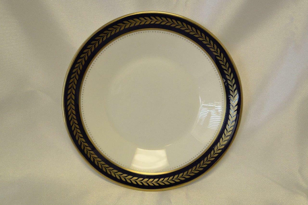 Coalport Blue Wheat, Bone, Gold Laurel on Cobalt Band: Saucer (s) Only 5 3/8""
