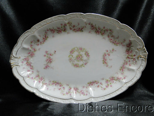 Zeh, Scherzer & Co 508, Pink Rose Garland: Oval Serving Platter, 11 1/8""