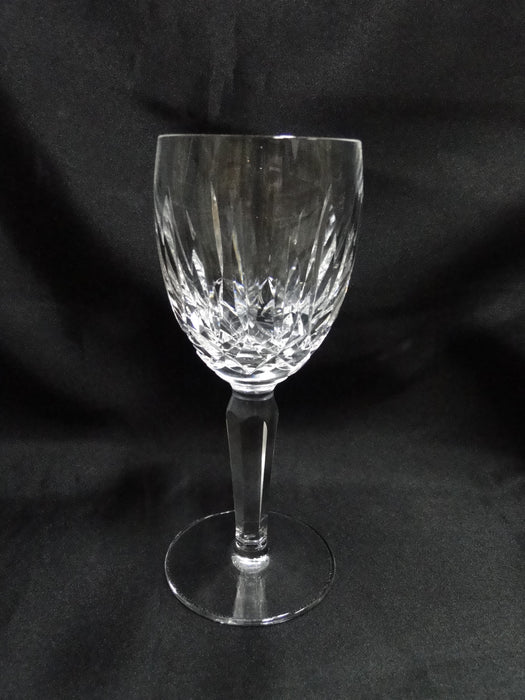 "Waterford Crystal Kildare, Vertical & Criss Cross Cuts: Claret Wine, 6 1/2"" Tall"