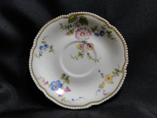 "Castleton Sunnyvale, Multicolored Flowers: 5"" Demitasse Saucer Only, No Cup"
