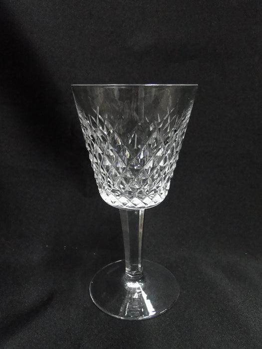 "Waterford Crystal Alana, Cut Cross Hatch: Claret Wine (s), 5 7/8"" Tall"